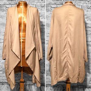 Zara Woman Draped Flowy Blazer Jacket EUC